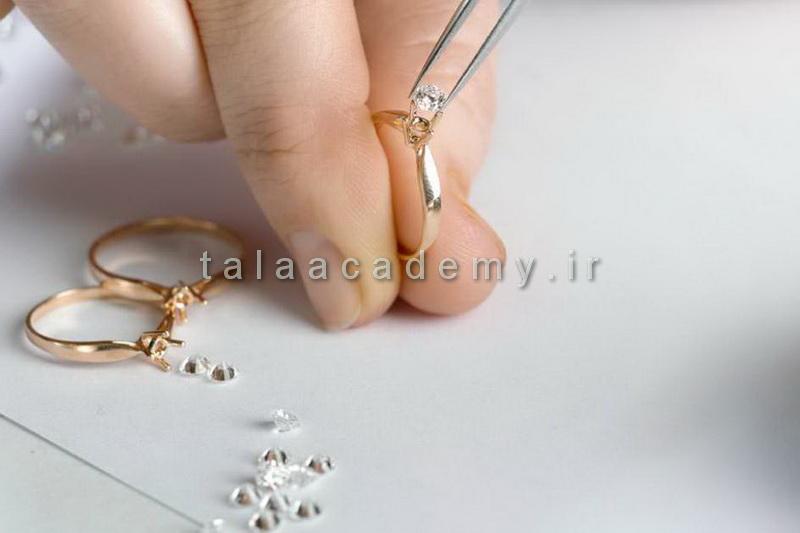 آموزش مرصع کاری طلا و جواهرات